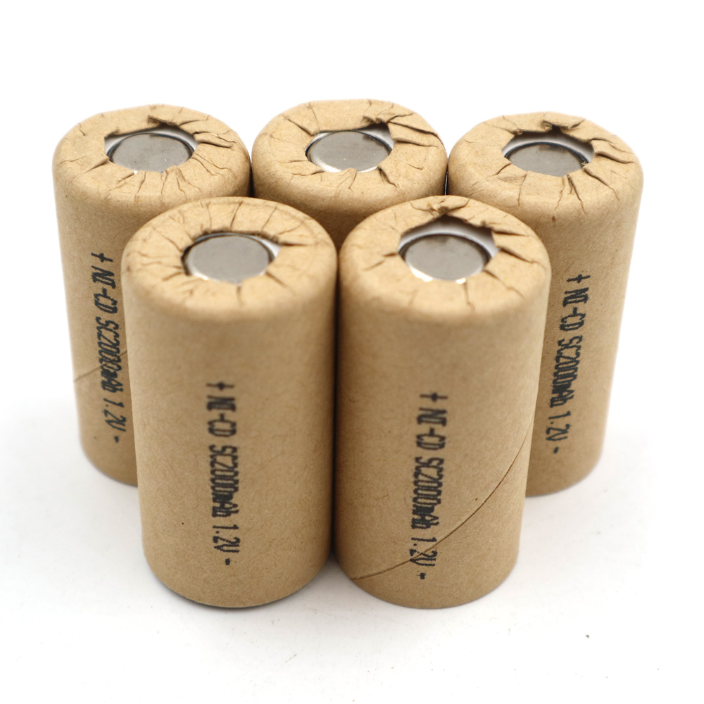 Ni-CD 1.2V SC2000mAh Ni CD 10pcs high power tool battery cell discharge rate 10C rechargeable batteries cells 2.0Ah image