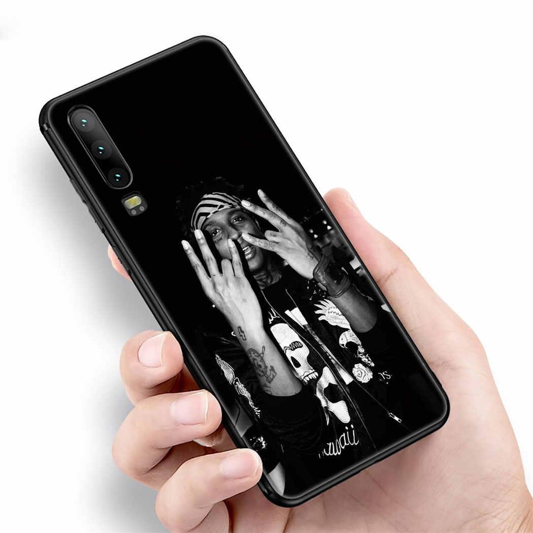 Máscara De Esqui IYICAO a Depressão do Deus Caso Silicone Suave para Huawei P Z Inteligente Plus 2019 P30 P20 P10 Lite caso Pro Telefone