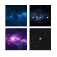 Modular Canvas Wall Art Home Decor Prints 4 Piece Abstract Universe Starry Sky Painting Poster Modern Pictures Living Room Frame(China)