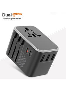 Adapter Charger Sockets Au-Plug EU Travel Universal PD USB QC for with UK All-In-One