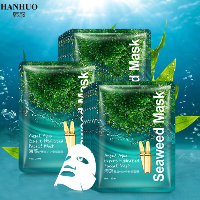 HANHUO Seaweed Facial Mask Angel Aqua Expert Hydrated Face Mask Moisturizing Nourishing Hydrating Face Skin Care
