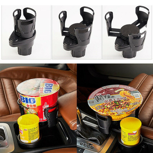 1Pcs Universal Car Water Cup Holder Rotatable Convient Design Drink Coffee Multifunction Mobile Phone Holder Car Accessories