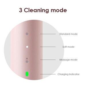 Image 3 - SOOCAS cepillo de dientes eléctrico EX3 recargable por USB, cepillo de dientes automático, Limpieza Profunda, resistente al agua, carga inalámbrica