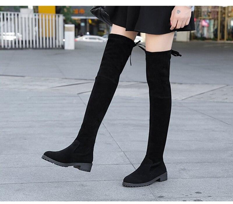 tecido elástico coxa alta sexy mulher sapatos
