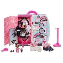 Lol bonecas surpresa original omg bonecas brinquedo disco de inverno série coletar bonito cabelo moda modelo bonecas brinquedo para crianças presente