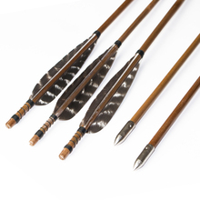 Hunting Arrows Handmade Bamboo Arrows Archery for Take-down Bow or Traditional Bow