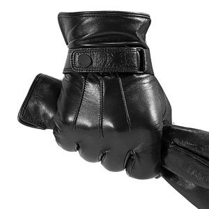 Image 5 - New Youpin Qimian Lambskin Touch Screen Finger Gloves Waterproof Spanish Raw Soft Leather Warm Winter For Women Man Drive