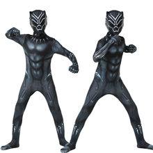Novo traje de halloween terno das crianças preto uma peça cocar menino vestido de festa super-herói cosplay adulto natal traje