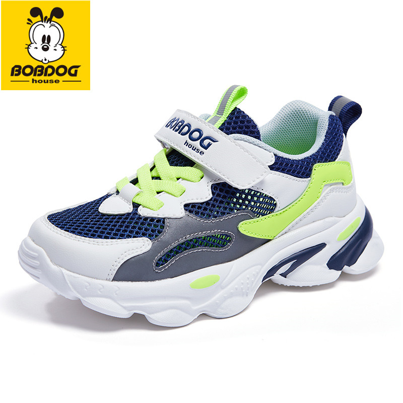BOBDOG House Children's Shoes New Summer Fashion Casual Mesh Breathable Non-slip Shock Absorption Soft Bottom Sneakers BX2221