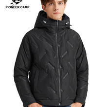 Pioneer Camp  2019 New Winter Mens Light Down Jackets Warm Thick Hoode