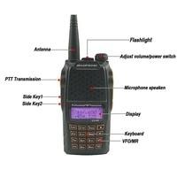 ham cb רדיו 2pcs Baofeng UV6R מכשיר הקשר 7W UHF & VHF CB רדיו Dual Band UV 6R המקצוען UV6R משדר Hf Ham Radio משדר PTT (2)
