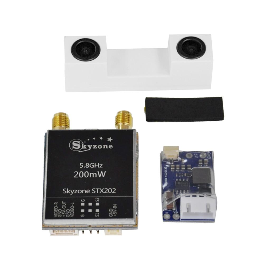 Skyzone SKY02S V + 3D очки Азм/видео очки с 3D/2D режимом 48CH 5,8G разнообразие приемник головная дорожка/камера для радиоуправляемого квадрокоптера - 6
