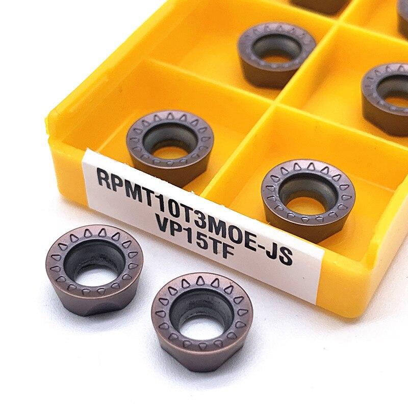 10PCS Carbide insert RPMT10T3MO E JS VP15TF milling turning tool RPMT 10T3MOE JS lathe tool milling cutter CNC tool lathe tool