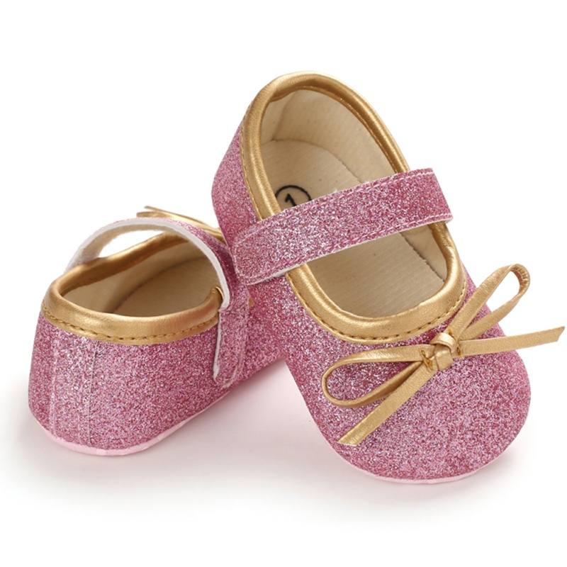 Spring Baby Girl Cotton Casual Bow Shoes First Walkers Newborn Cute Non-slip Soft Soled Walking Shoes