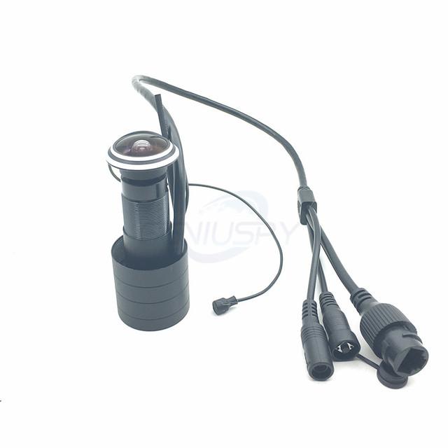 Door Eye Hole  Security 1080P HD Onvif 1.78mm Lens Wide Angle FishEye CCTV Network Mini Peephole Door WifI P Camera P2P TF Card