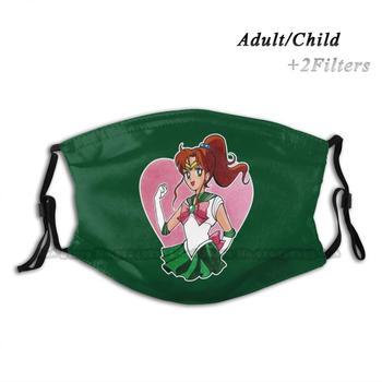 Sailor Jupiter ( Sailor Moon ) Print Reusable Face Mask Filter Anti Dust Clouth Mask Sailor Moon Sailor Moon Princess Serenity