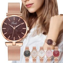 lady watch for woman Sleek Minimalist Calendar Stainless Steel Mesh Belt Woman Quartz Watch complementos mujer relog mujer#F35(China)