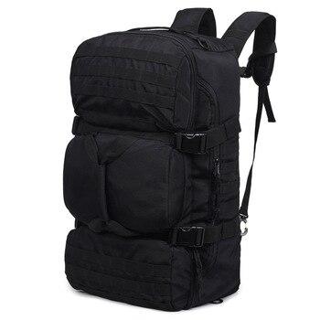 цена на Military Tactics Backpack 60L Large Capacity Multifunction Men Backpacks Waterproof Nylon Shoulder Bag Rucksack Travel Backpack