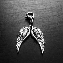 2 шт Ангел подвеска крыло крылья клип на Шарм молния тянуть