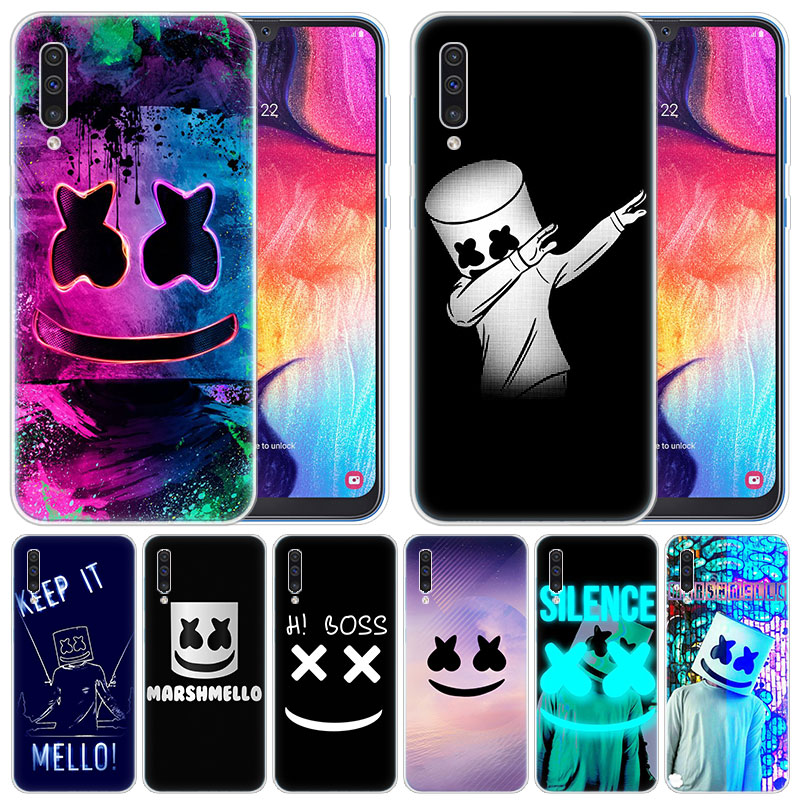 luxury Soft <font><b>Silicone</b></font> <font><b>Case</b></font> DJ marshmallow for <font><b>Samsung</b></font> Galaxy A50 <font><b>A70</b></font> A80 A40 A30 A20 A10 A20E A2 CORE A9 A8 A7 A6 Plus 2018 Cover image