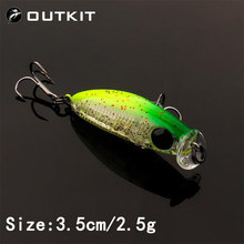 OUTKIT 2020 NEW Arrive Japanese Design Small Lures Fishing Lure 2.5g 35mm Sinking Minnow Mini Hard Bait For Perch Trout Bass