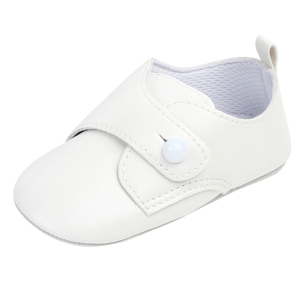 2019 New Baby Shoes Cute White Korean Style Newborn First Walker Children Shoes Casual Soft Sole Non-slip Baby Girls Boys Shoes