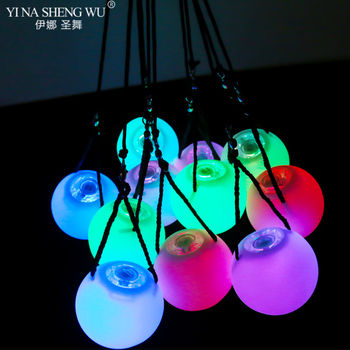 15 Pieces LED Balls RGB Glow Stage Performance LED POI Thrown Balls for Belly Dance Level Hand Props Belly Dance Accessories New