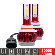 2Pcs H1 H7 LED Mini Car Bulb H4 H11 HB3 HB4 9005 9006 LED Car Headlight Lights 50W 9000LM 3000K 8000K Super Bright Auto Lamp 12V 2x mini size h1 h7 led h4 h11 hb3 hb4 9005 9006 led car headlight bulb 6000k 9000lm 36w auto lights 12v automobile fog lamp bulb