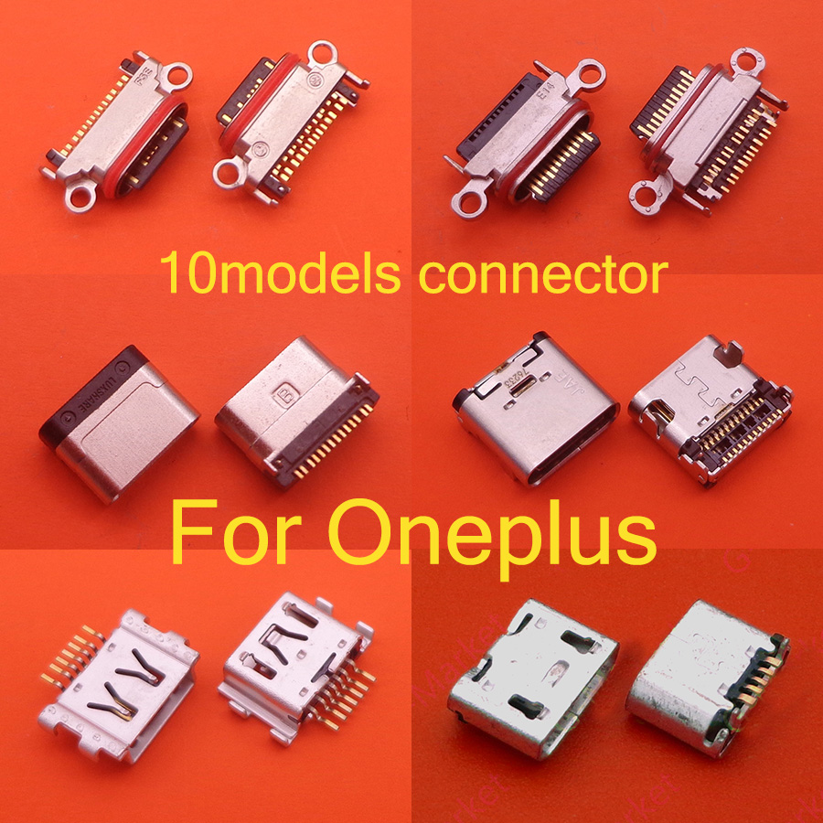 2pcs For OnePlus X 1 2 3 3T 5 5T 6 6T 7 Pro Replacement Parts New Micro Type-C USB Socket Connector Charging Plug Port