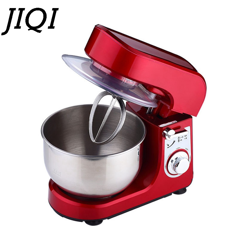 Stainless Steel Bowl Electric Stand Mixer Cake Bread Flour Dough Knead Machine Egg Whisk Beater Cream Blender Food Processor EU