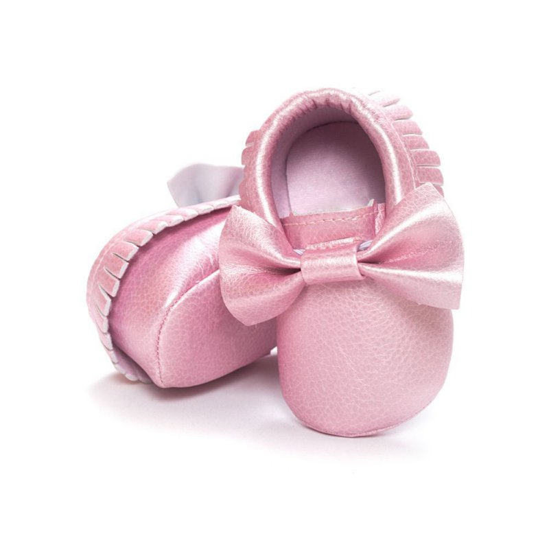 Newborn Baby Shoes Handmade Soft Bottom Fashion Tassels Baby Moccasin PU Leather Prewalkers Boots