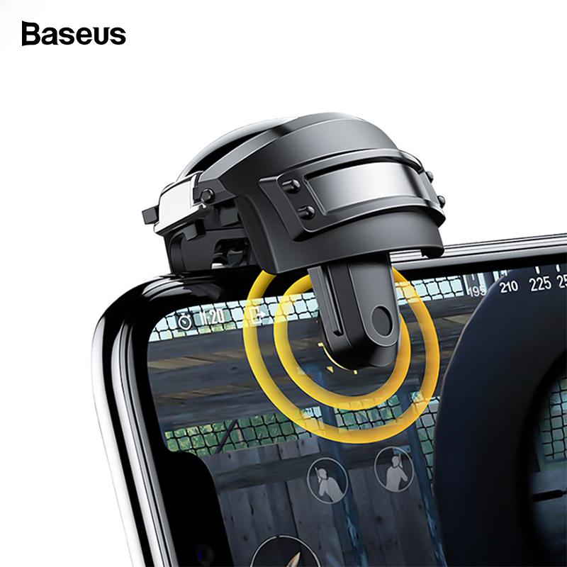 Baseus Gamepad Joystick For PUBG Game Trigger Fire Button L1 R1 Mobile Phone Game Shooter Controller Joypad For IPhone Android