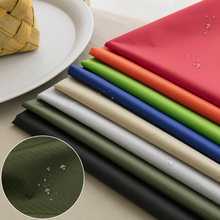 Tissu enduit imperméable en Polyester Pu, 0.5 Yards, 210T, pour la couture d'auvent de jardin ou de tente de Camping en plein air W13