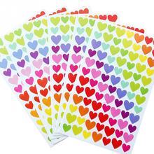 6pcs/lot DIY Tape Album Sticker Round Dots Love Heart Paper Little Colorful Diary Decorative Student School Children Supplies