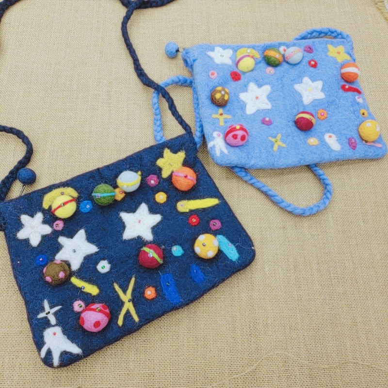 Bala Nepal New Style Small Universe Stars Satchel Beads-Star Shoulder Bag