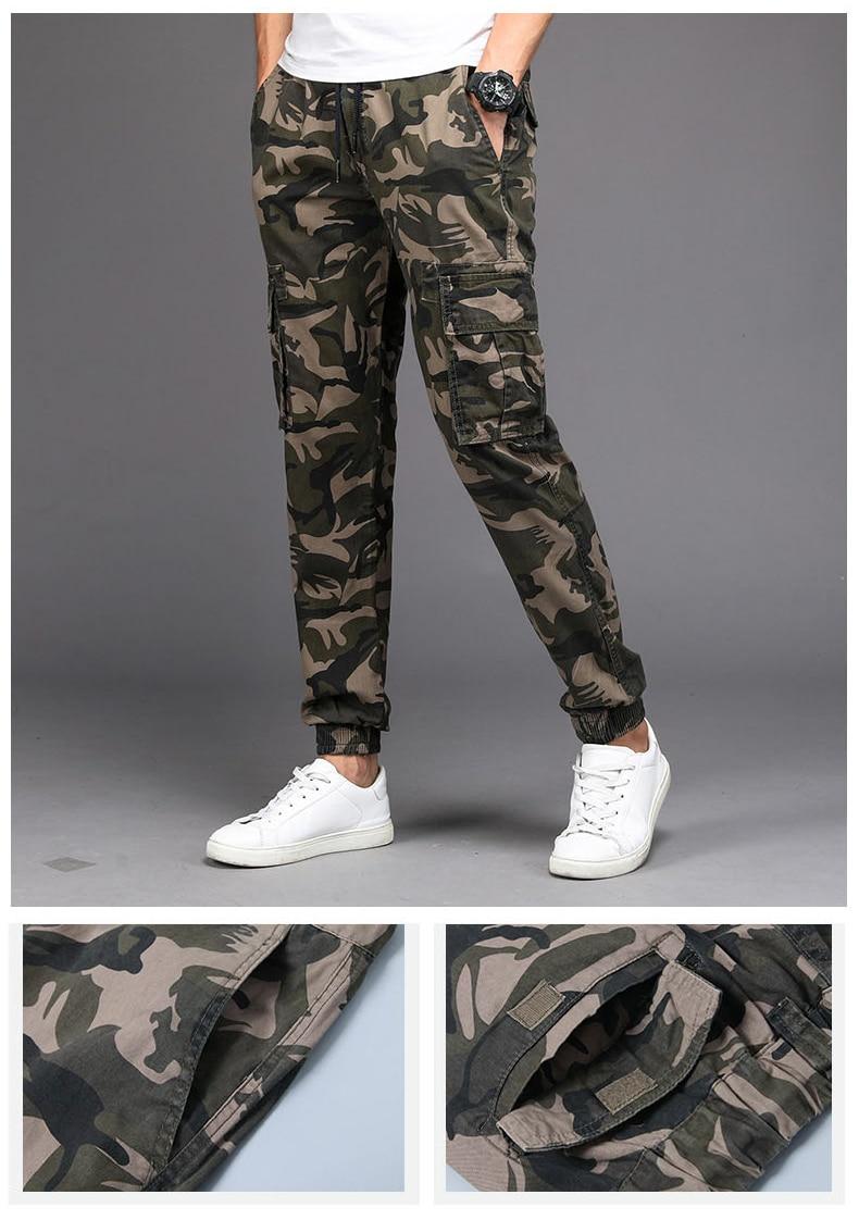KSTUN Cargo Pants Men Camouflage Harem Joggers Men's Causal Hip Hop Trousers Drawstring Sweatpants Male Large Size Pants Good Quality 11