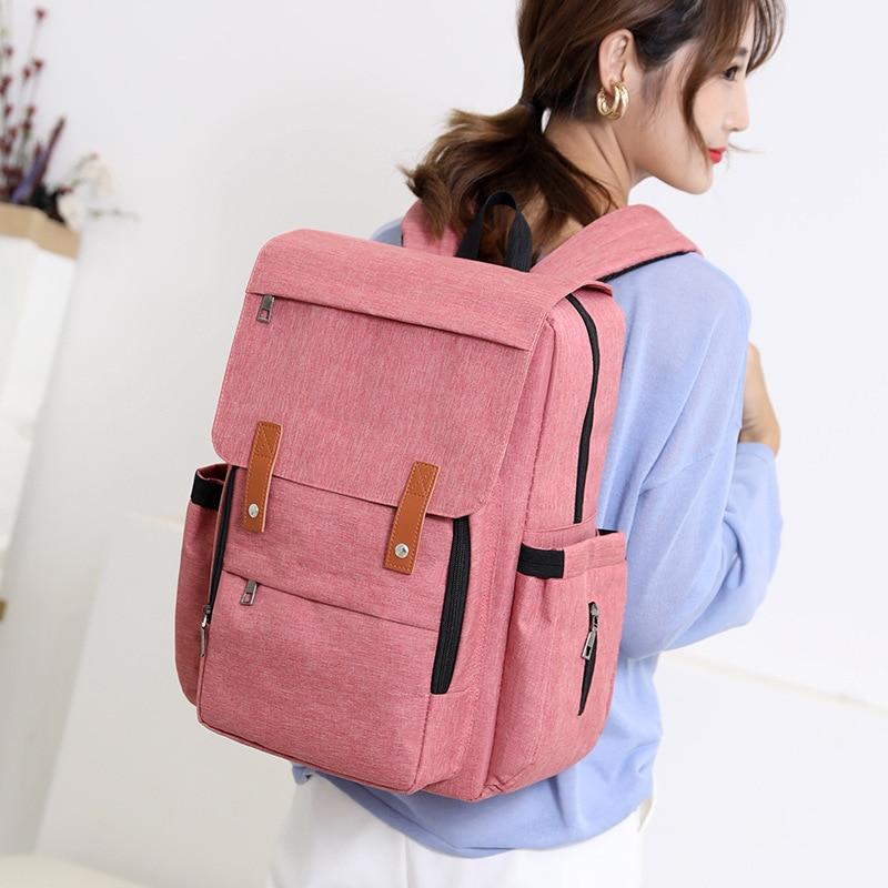 Fashion Multi-functional Large Capacity Backpack Women's Casual Nursing Portable MOTHER'S Bag Nylon Handbag
