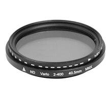 40.5/52/46/55mm fader nd variável filtro ajustável nd2 para nd400 densidade neutra câmera lente de vidro óptico para canon nikon