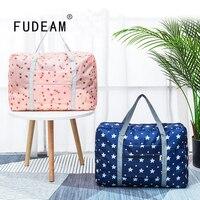 FUDEAM Oxford Tuch Faltbare Reisetaschen Große Kapazität Gepäck Tasche Frauen Wasserdichte Handtasche Männer Business-Organizer Lagerung Tasche