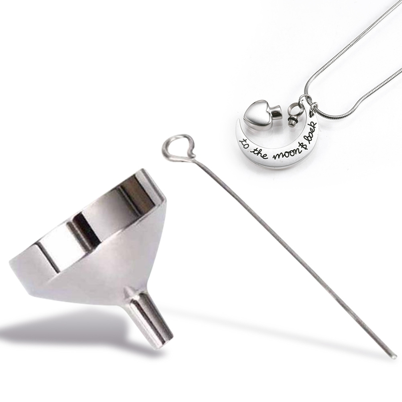 Stainless Steel Funnel Filler Kit Tool For Cremation Necklace Ash Urn Pendant Jewelry