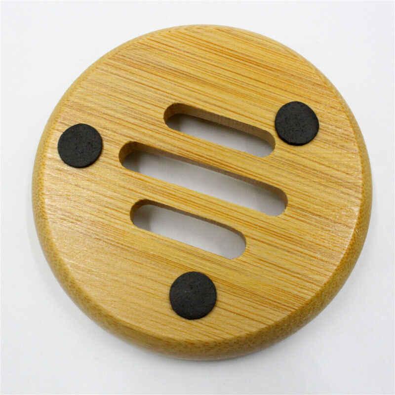 Durable Platz Tray Box Bad Container Seifenschale Natürliche Holz Seife Rack Platte