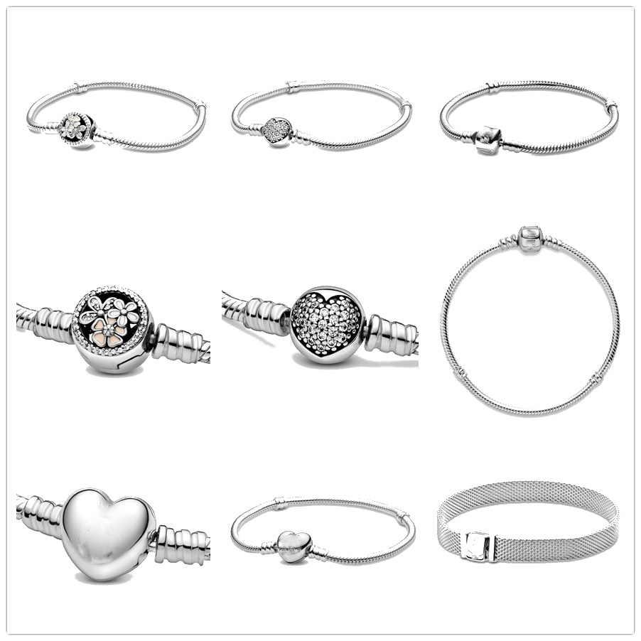 925 Sterling Silber Clip Perle Armbänder für Frauen Fit Original Reflexions Armband & DIY armband charme femme Mode Schmuck