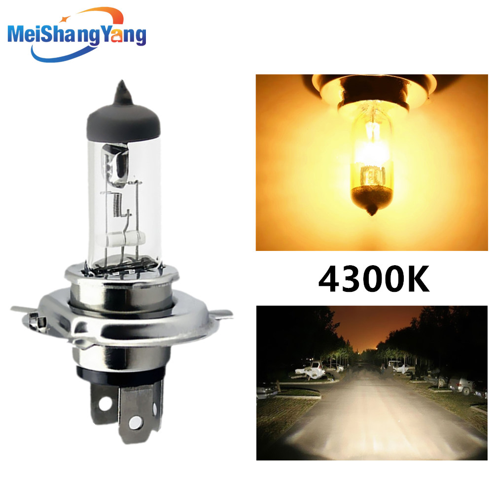 2 Pieces Replacement H4 100W 4300K Yellow LED Fog Driving Light Bulbs Lamp