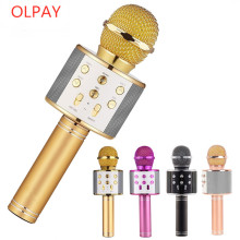 Professional Bluetooth Wireless Microphone Karaoke Speaker KTV Music Player Singing Recorder Handheld Microphone Mic 1800Mah leory professional uhf karaoke wireless dual handheld mic transmitter microphone system with receiver for family diy ktv page 3