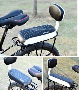 ROBESBON Mountain bike rear cushion shelf manned saddle children bicycle riding cushion thickened back comfort universal(China)