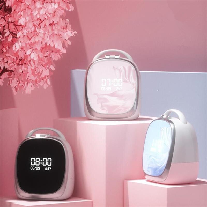 Intelligente Ad Alta end Scatola di Immagazzinaggio Cosmetici Nordic LED Specchio Specchio Per Il Trucco Dell'organizzatore del Cassetto di Casa Rossetto Supporto di Spazzola Cura Della Pelle Gioielli cremagliera - 2
