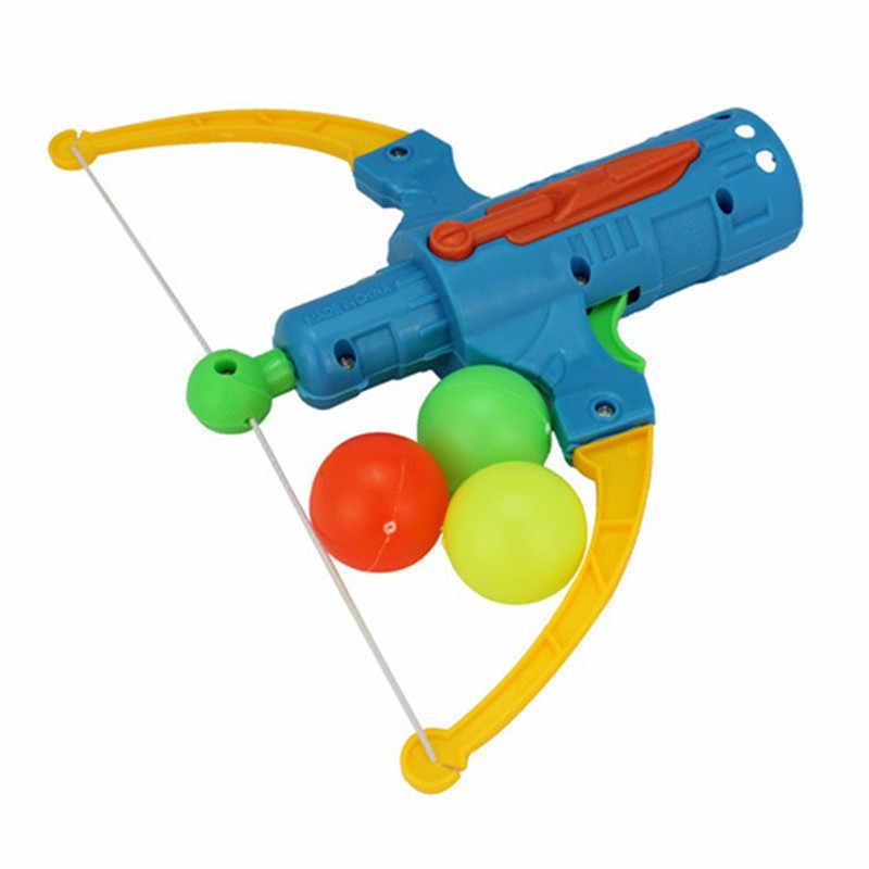 탁구 총 활 양궁 플라스틱 공 디스크 슈팅 장난감 야외 스포츠 어린이 선물 Slingshot 사냥 소년 장난감
