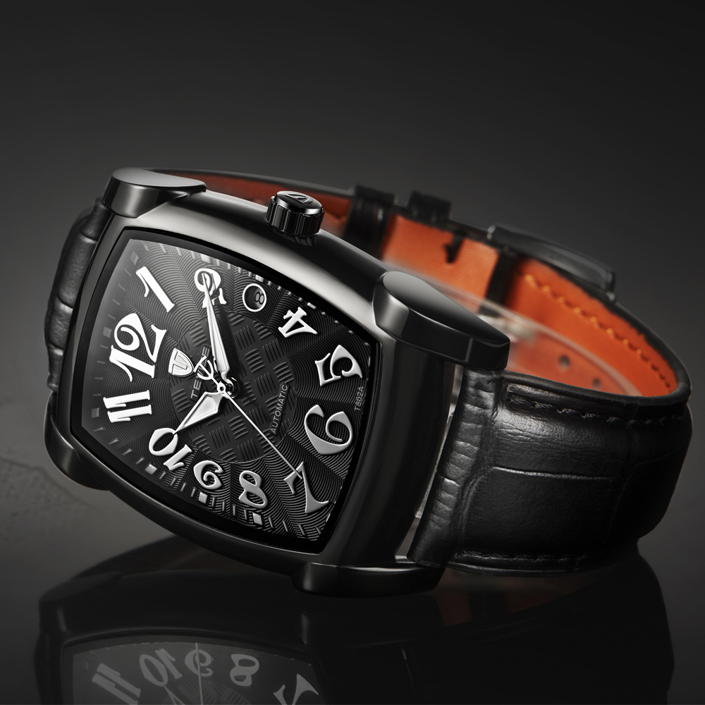 TEVISE Self Winding Automatic Mechanical Watches Men Watch Sports Business Fashion Square Watch Relogio Automatico Masculino in Mechanical Watches from Watches