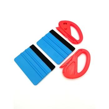 4pcs/lot Car Vinyl Spatula Wrapping Tools Rubber Vehicle Glass Protective Film Sticker Tool Set