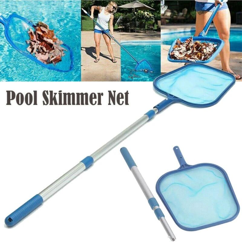 Professional Leaf Rake Mesh Frame Net Skimmer Cleaner Swimming Pool Tool